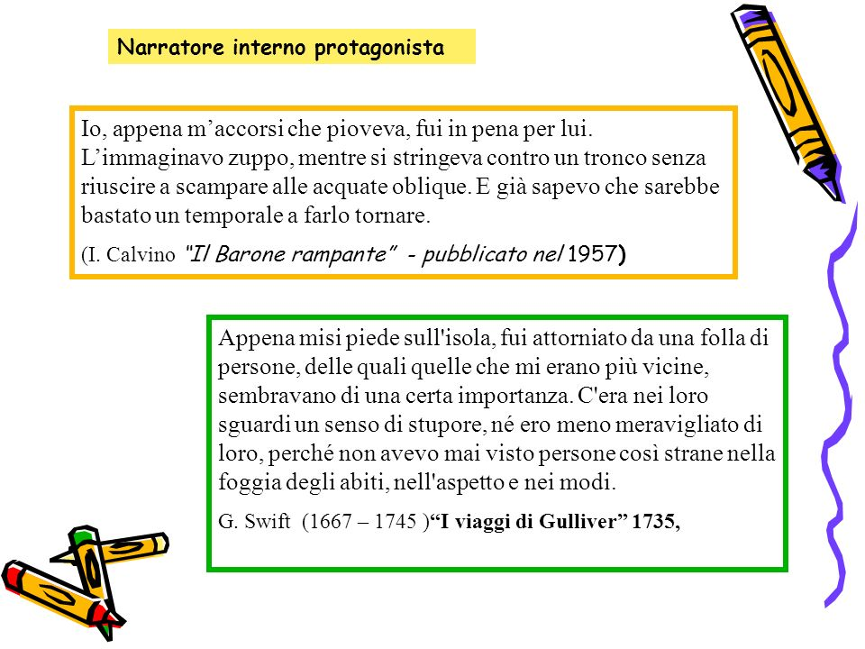 Narratore interno protagonista