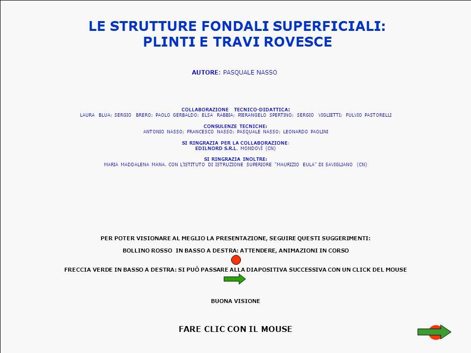 LE STRUTTURE FONDALI SUPERFICIALI: COLLABORAZIONE TECNICO-DIDATTICA: