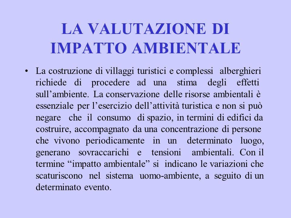 LA VALUTAZIONE DI IMPATTO AMBIENTALE