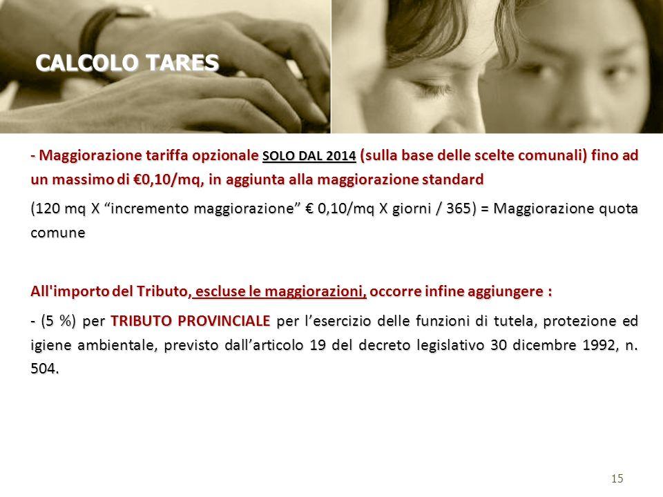 CALCOLO TARES