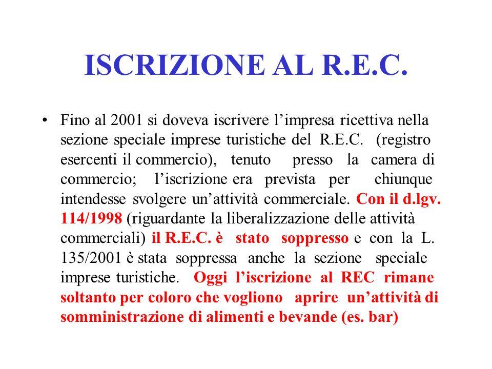 ISCRIZIONE AL R.E.C.