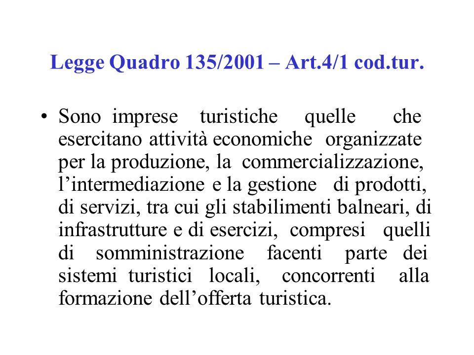 Legge Quadro 135/2001 – Art.4/1 cod.tur.