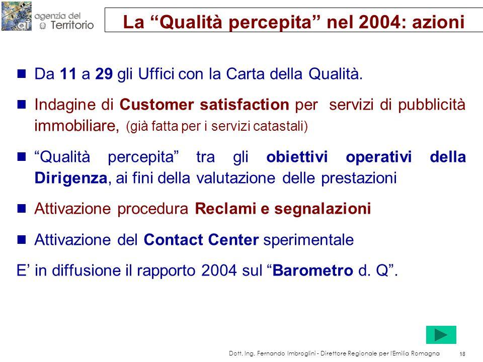 Obiettivi strategici per la Qualità dei servizi