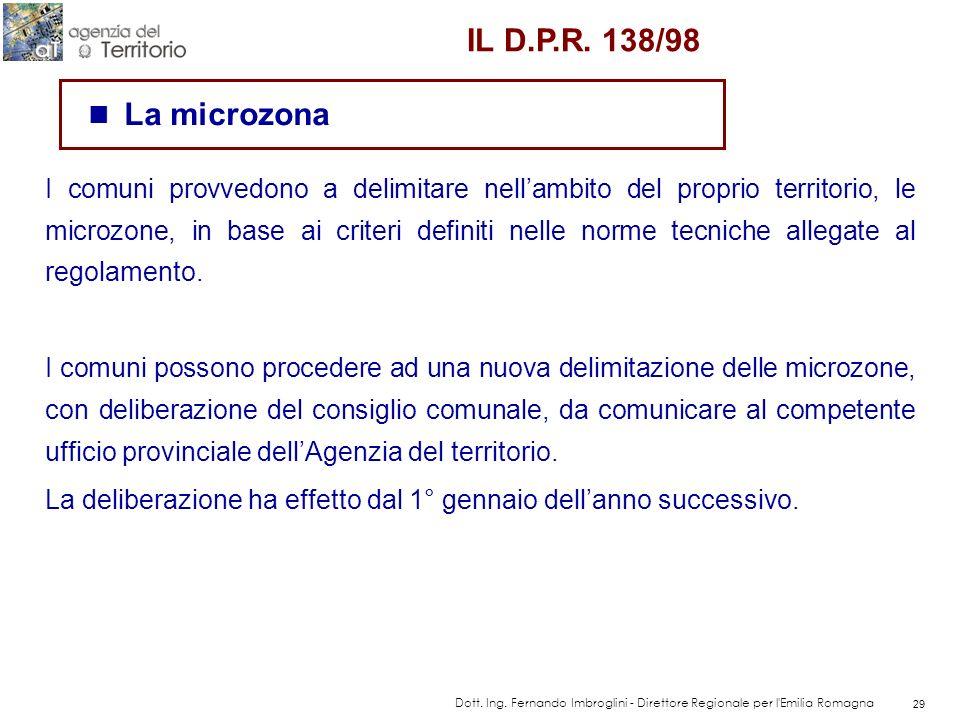 IL D.P.R. 138/98La microzona.