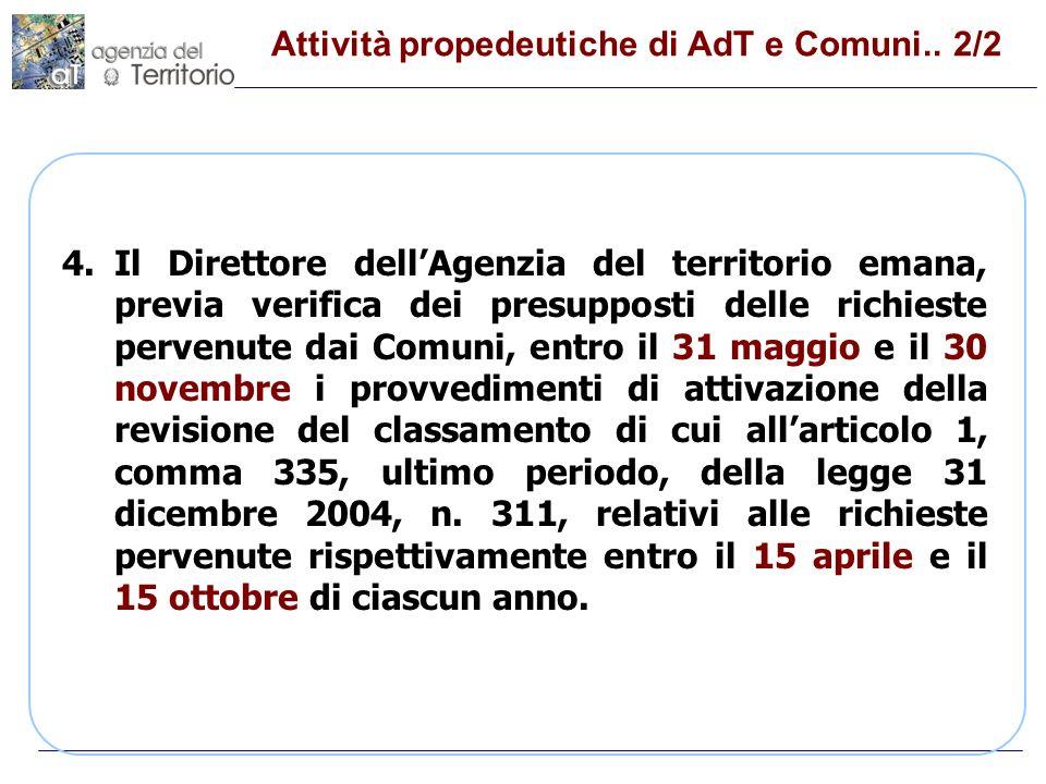Attività propedeutiche di AdT e Comuni.. 1/2