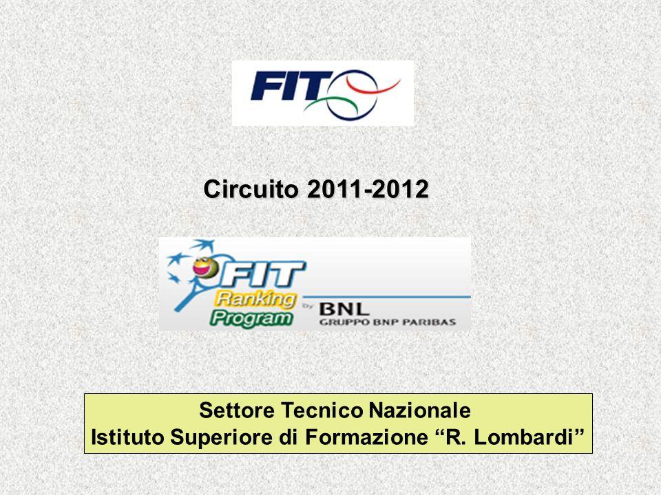 Circuito 2011-2012 Settore Tecnico Nazionale