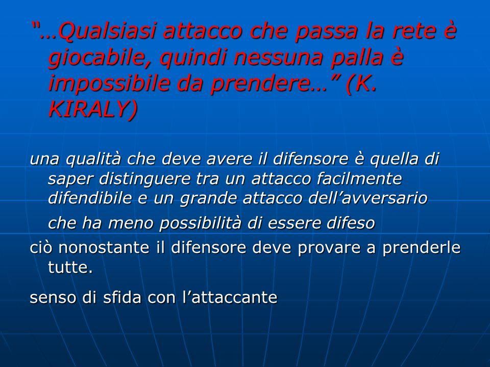 …Qualsiasi attacco che passa la rete è giocabile, quindi nessuna palla è impossibile da prendere… (K. KIRALY)