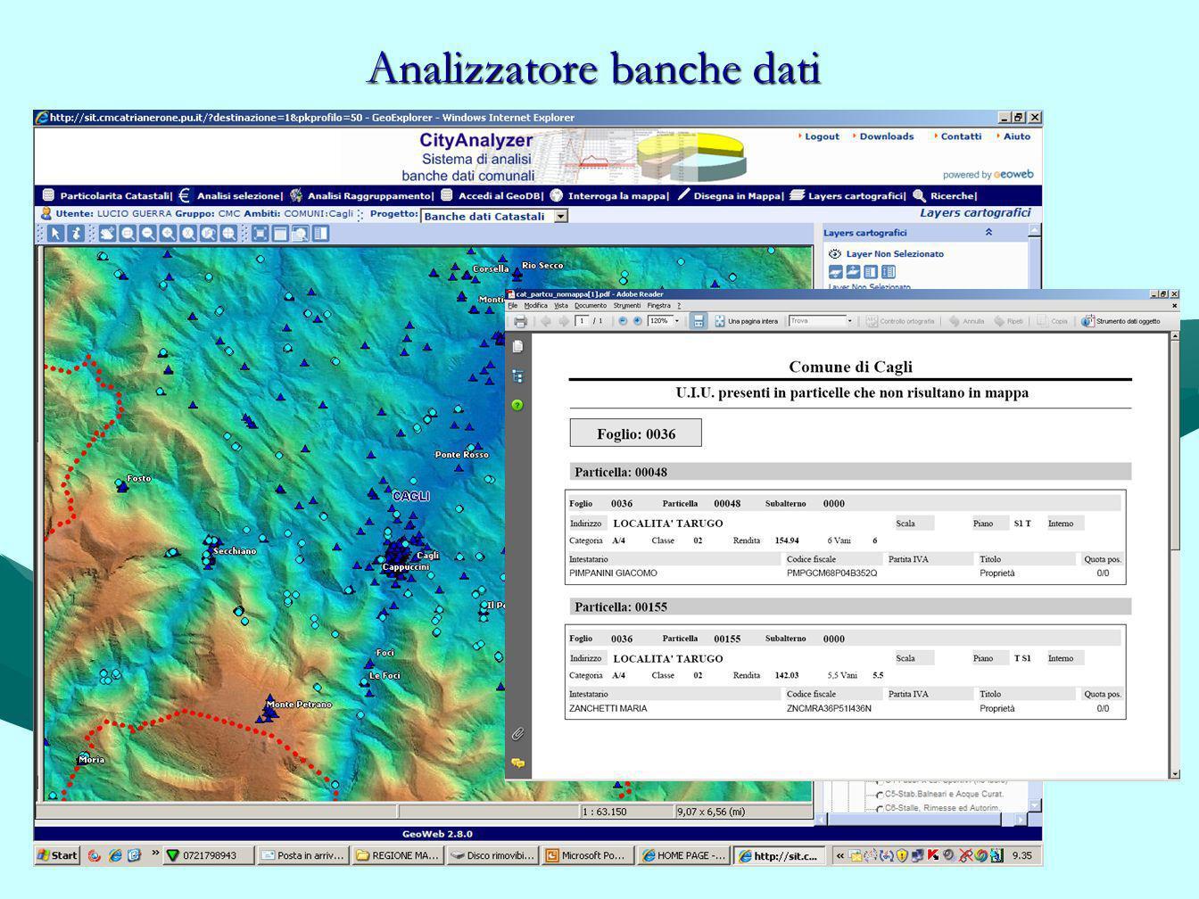 Analizzatore banche dati