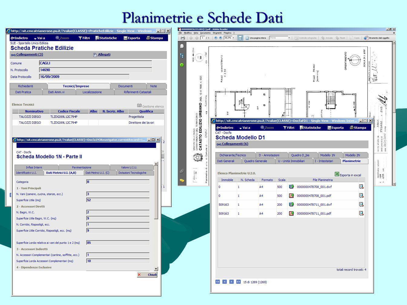 Planimetrie e Schede Dati