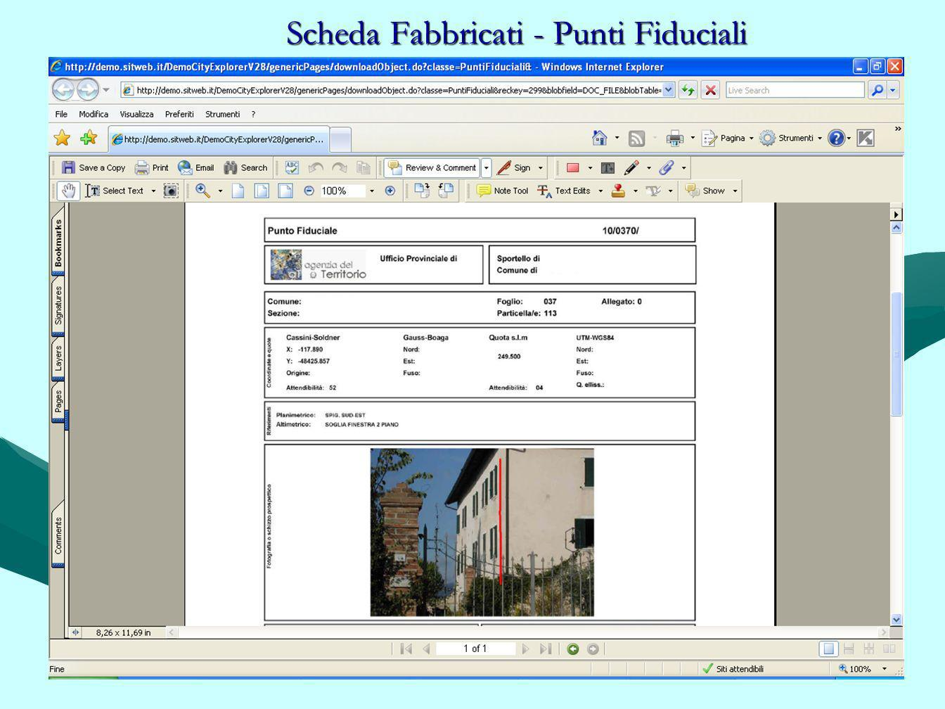 Scheda Fabbricati - Punti Fiduciali