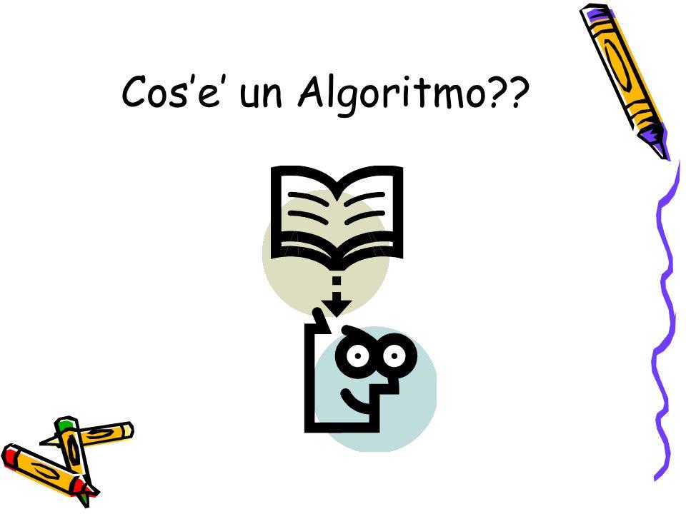 Cos'e' un Algoritmo