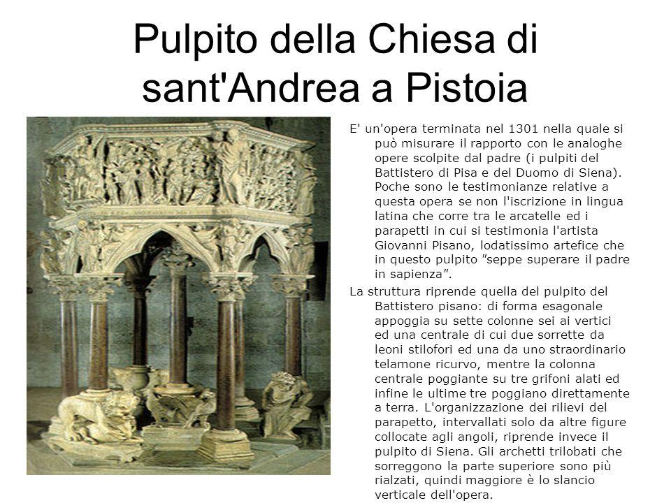 Pulpito della Chiesa di sant Andrea a Pistoia