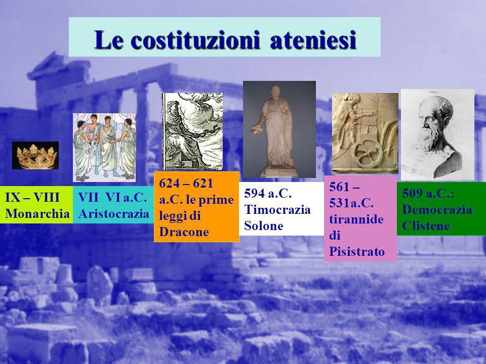 Le costituzioni ateniesi