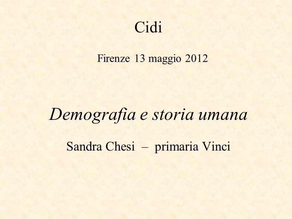 Demografia e storia umana Sandra Chesi – primaria Vinci