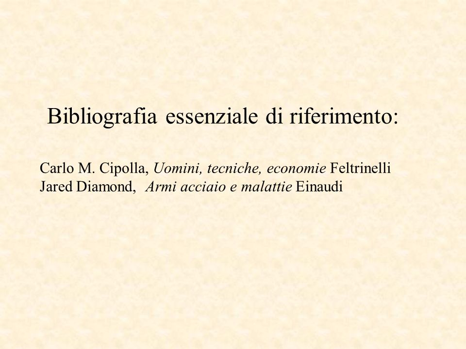Bibliografia essenziale di riferimento: Carlo M