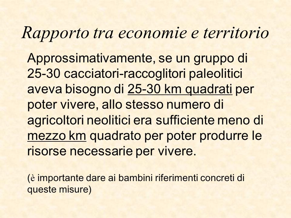 Rapporto tra economie e territorio