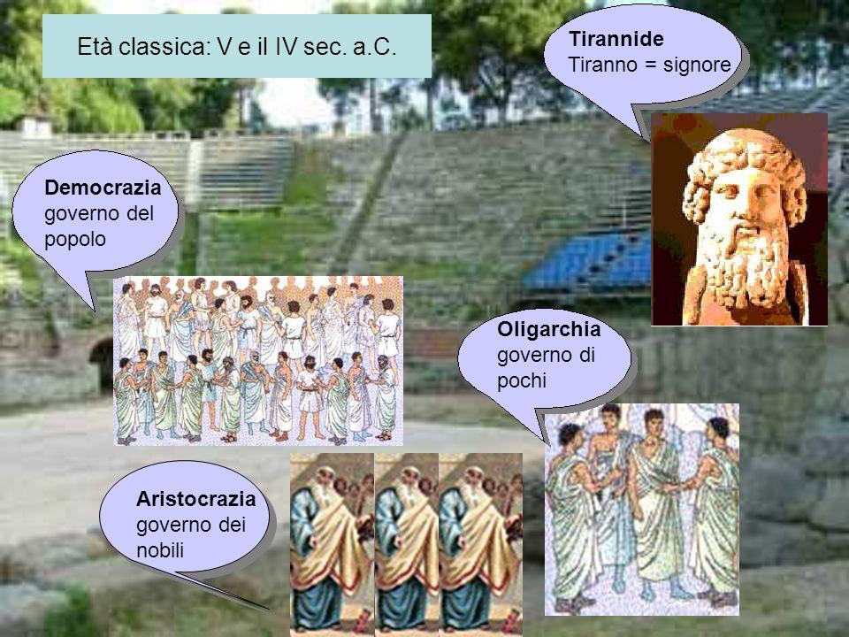 Età classica: V e il IV sec. a.C.