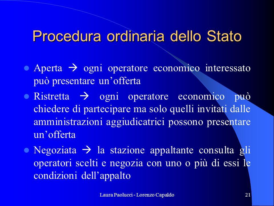 Procedura ordinaria dello Stato