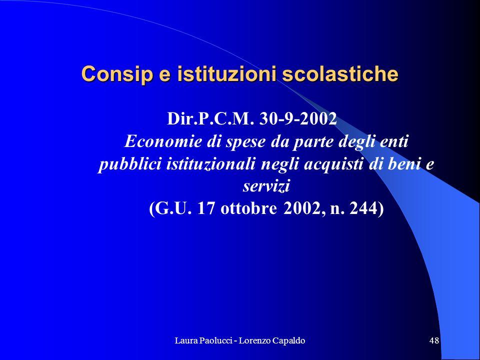 Consip e istituzioni scolastiche