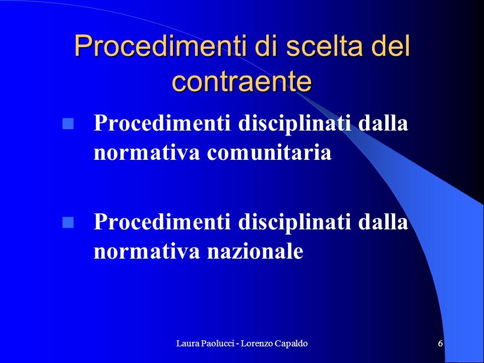 Procedimenti di scelta del contraente