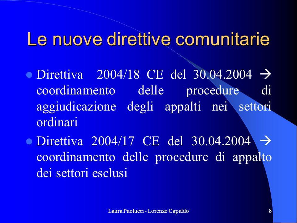 Le nuove direttive comunitarie