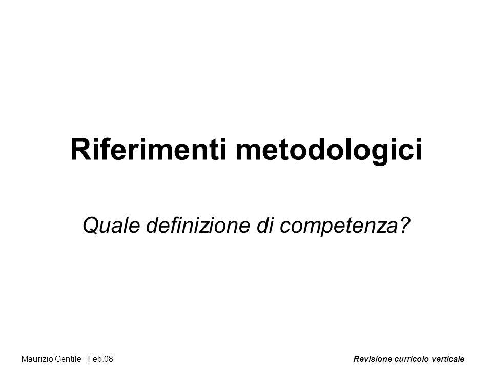Riferimenti metodologici