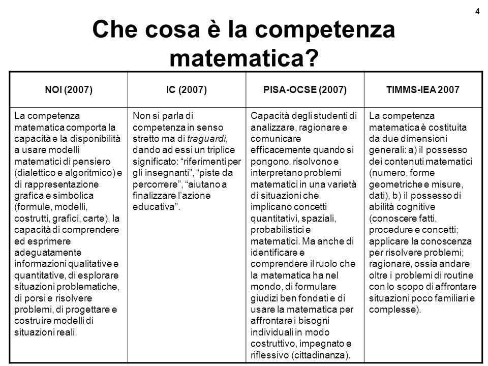 Che cosa è la competenza matematica