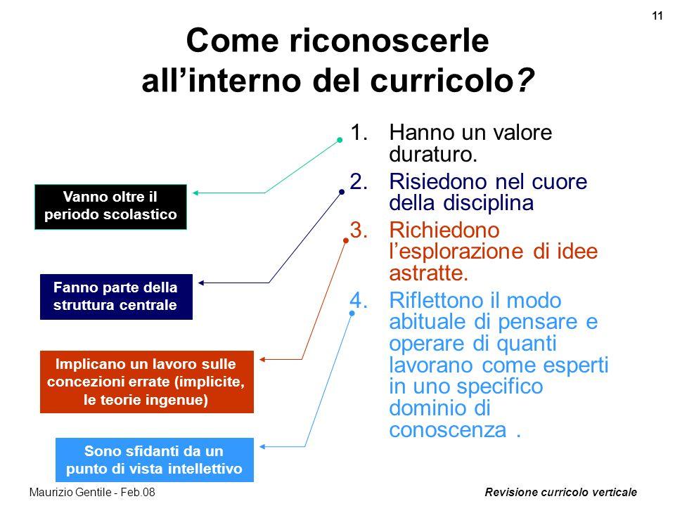 Come riconoscerle all'interno del curricolo