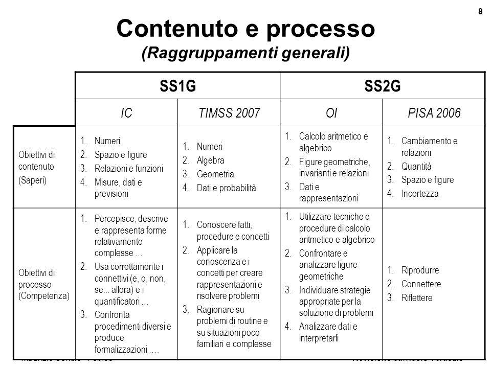 Contenuto e processo (Raggruppamenti generali)
