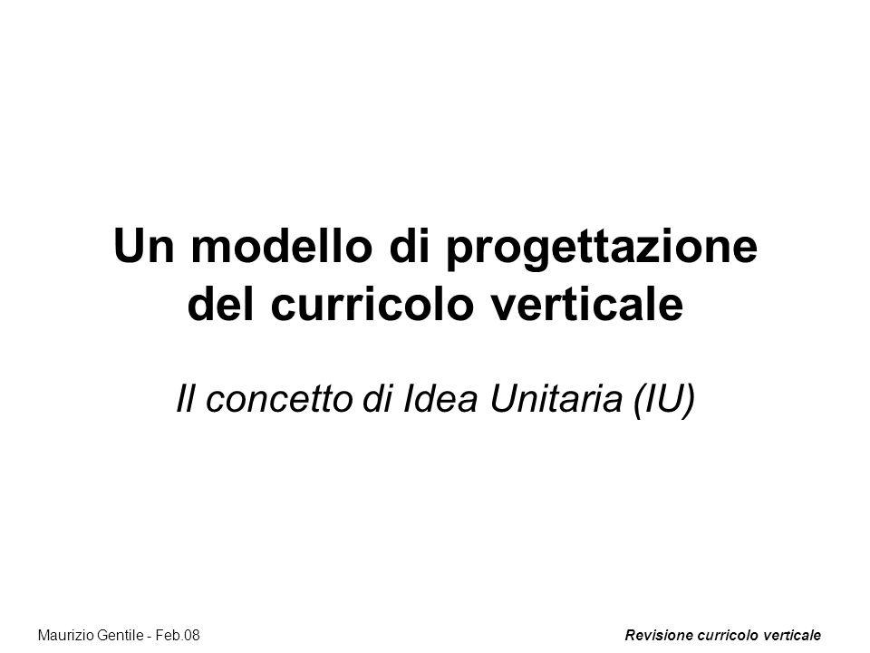 Un modello di progettazione del curricolo verticale