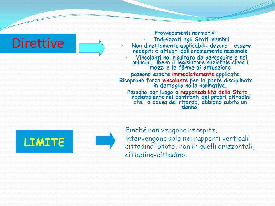 Provvedimenti normativi: