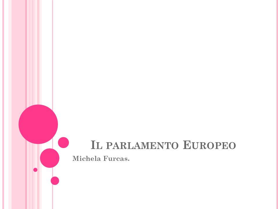 Il parlamento Europeo Michela Furcas.
