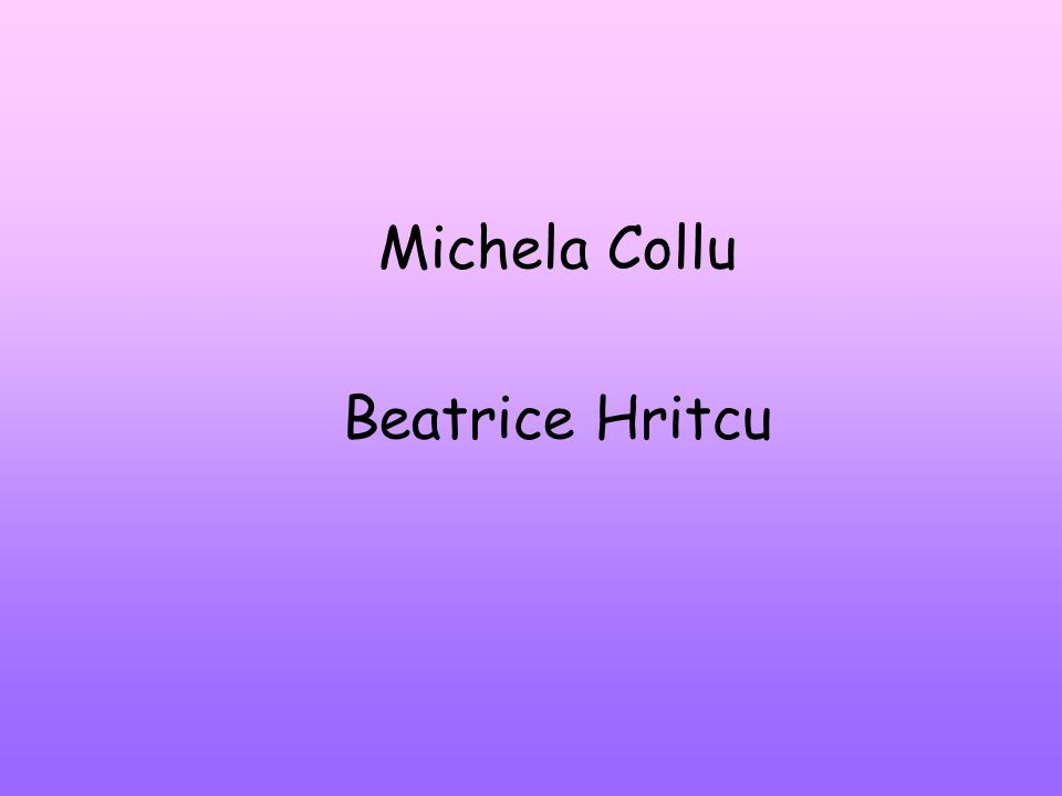 Michela Collu Beatrice Hritcu