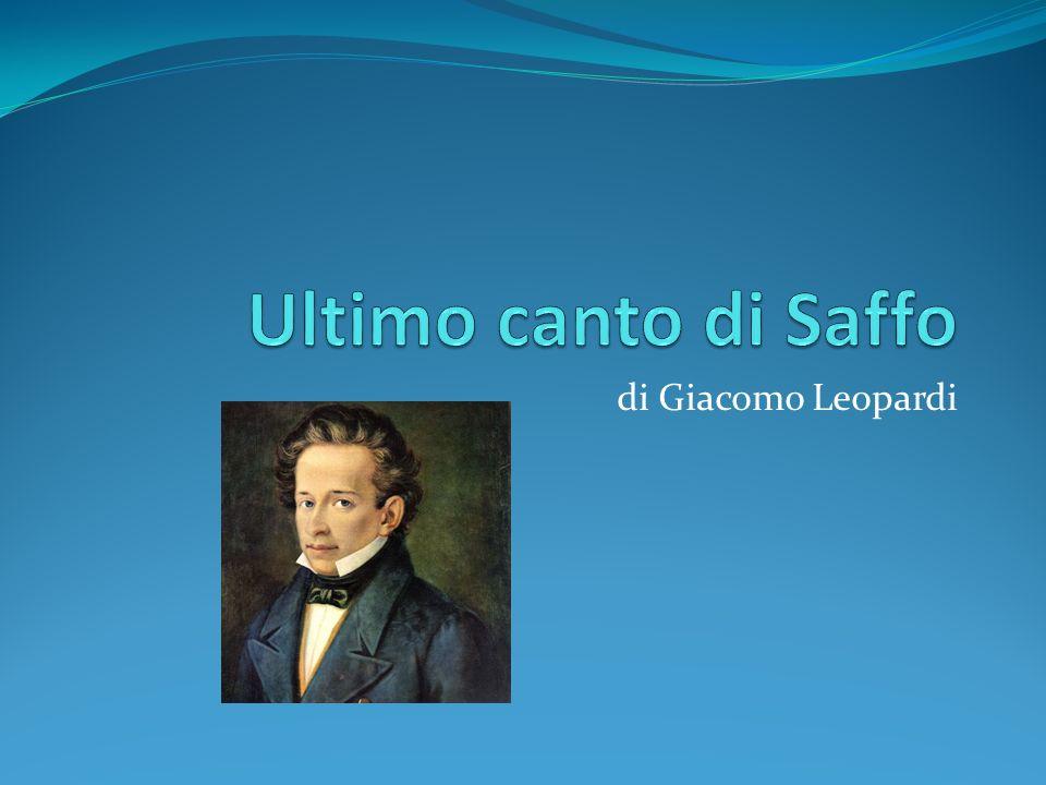 Ultimo canto di Saffo di Giacomo Leopardi