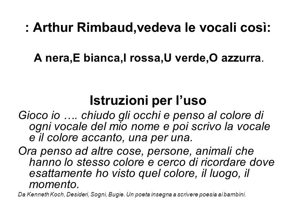 : Arthur Rimbaud,vedeva le vocali così:
