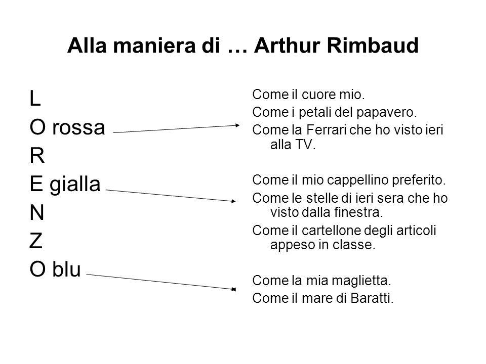 Alla maniera di … Arthur Rimbaud