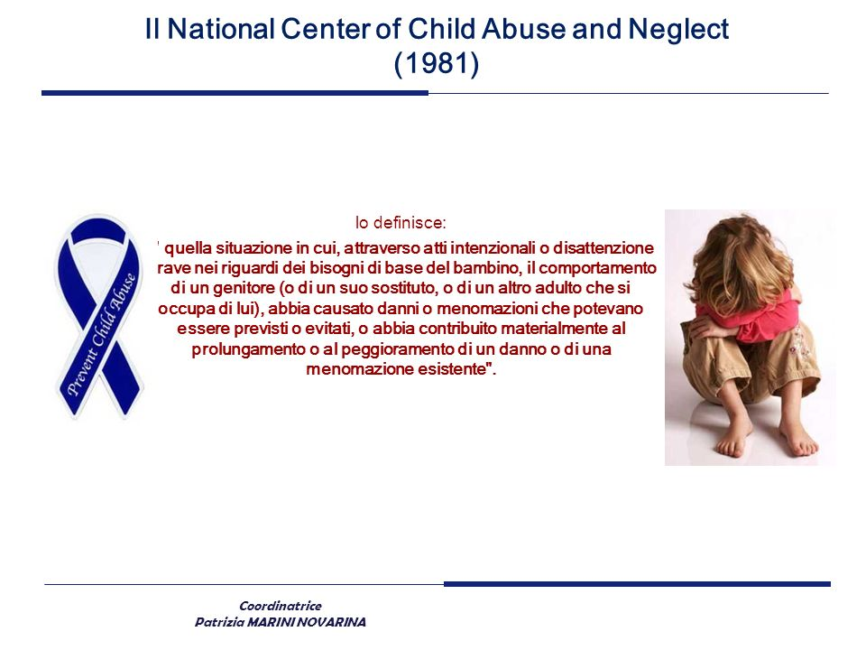Il National Center of Child Abuse and Neglect (1981)
