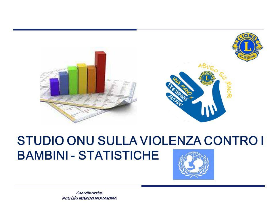 STUDIO ONU SULLA VIOLENZA CONTRO I BAMBINI - STATISTICHE