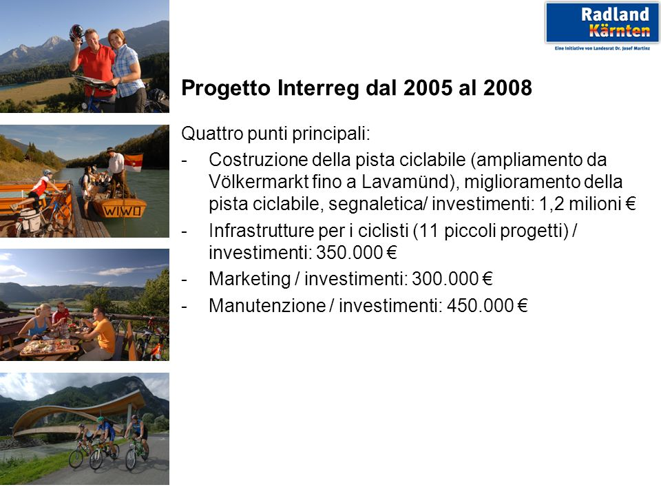 Progetto Interreg dal 2005 al 2008