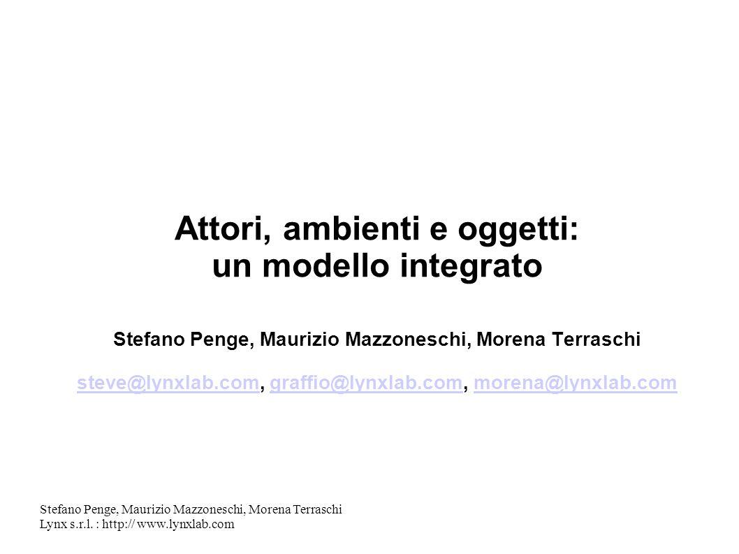 Attori, ambienti e oggetti: un modello integrato