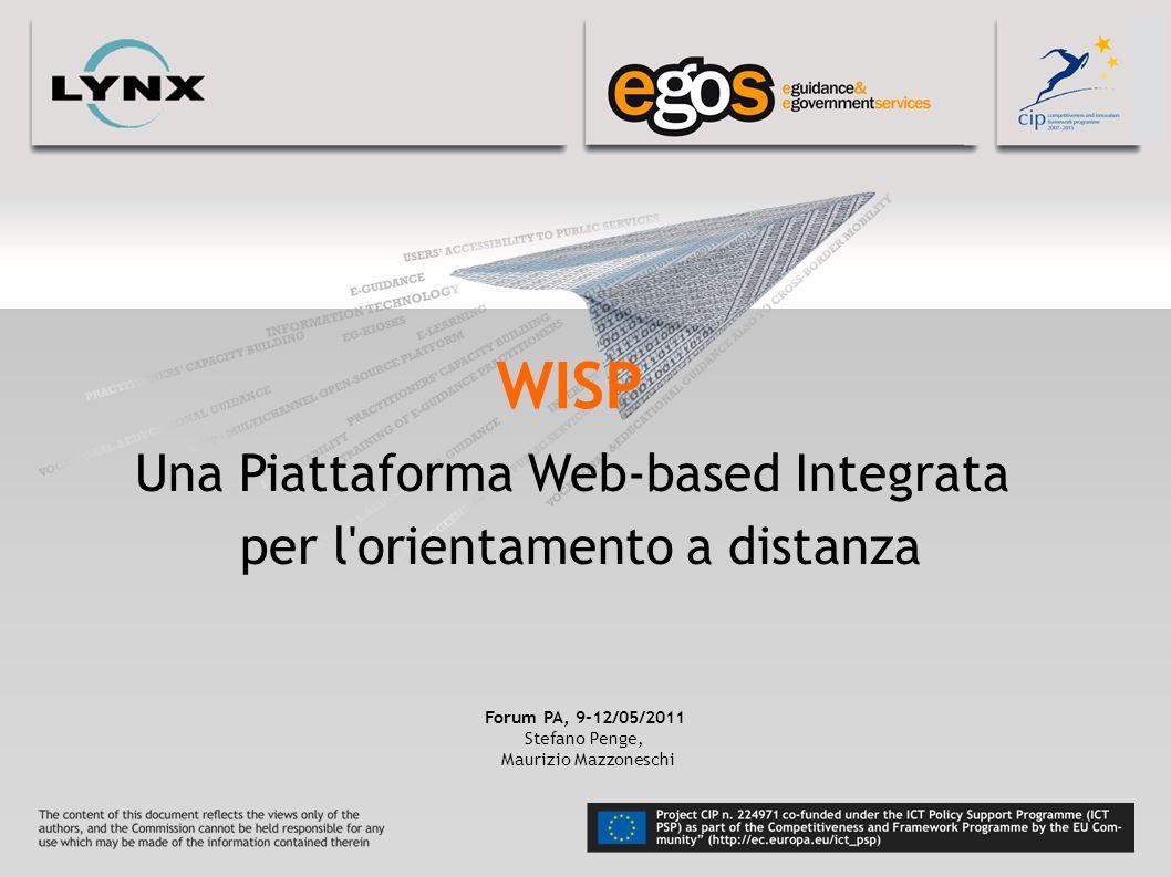 WISP Una Piattaforma Web-based Integrata per l orientamento a distanza