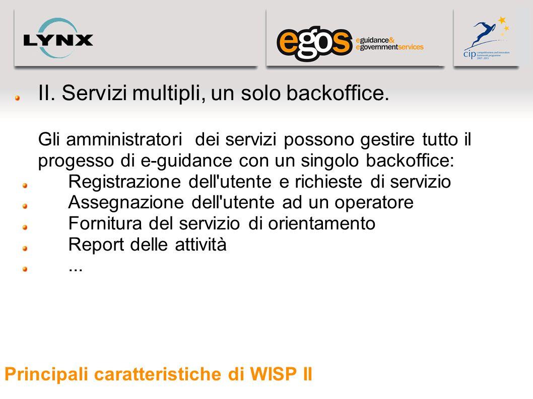 Principali caratteristiche di WISP II