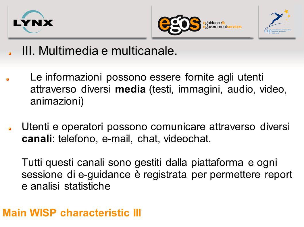 Main WISP characteristic III