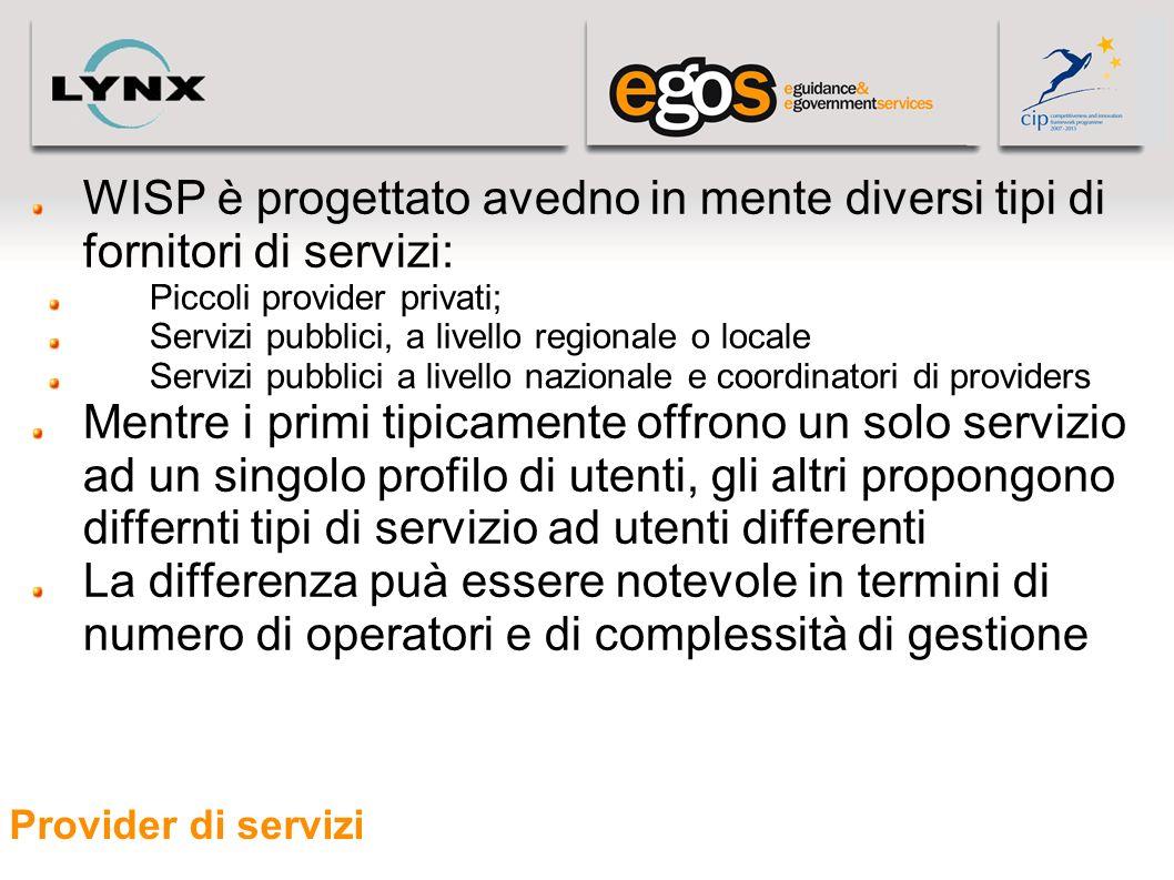 05/05/11 WISP è progettato avedno in mente diversi tipi di fornitori di servizi: Piccoli provider privati;