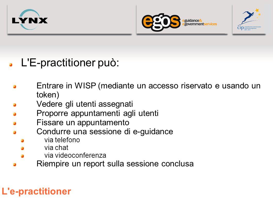 L E-practitioner può: L e-practitioner