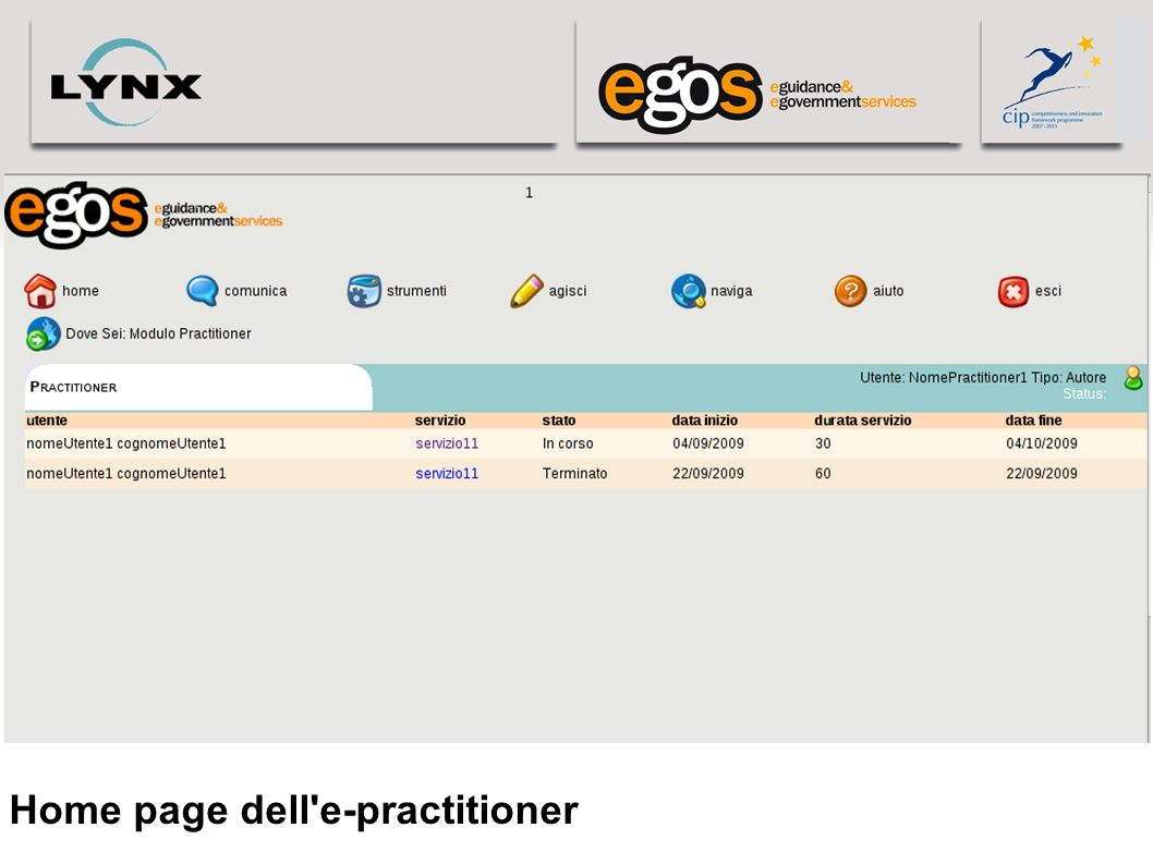 Home page dell e-practitioner