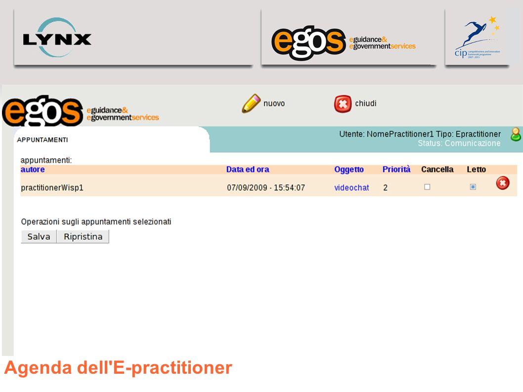 Agenda dell E-practitioner