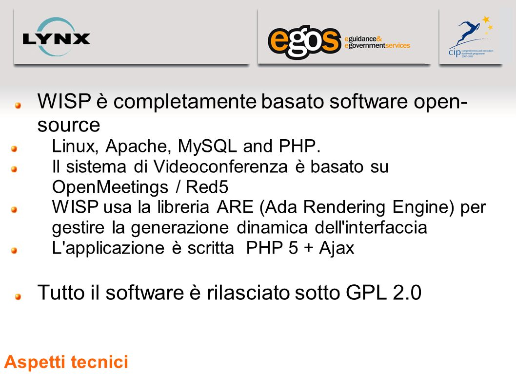 WISP è completamente basato software open-source