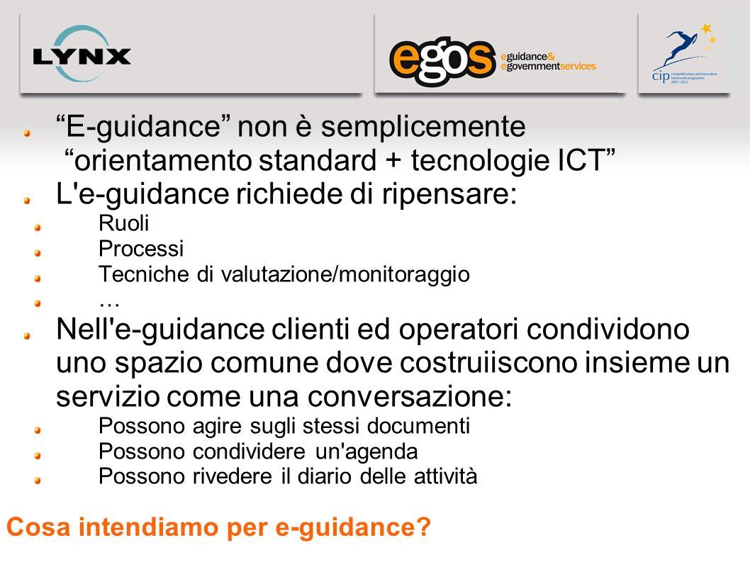 Cosa intendiamo per e-guidance