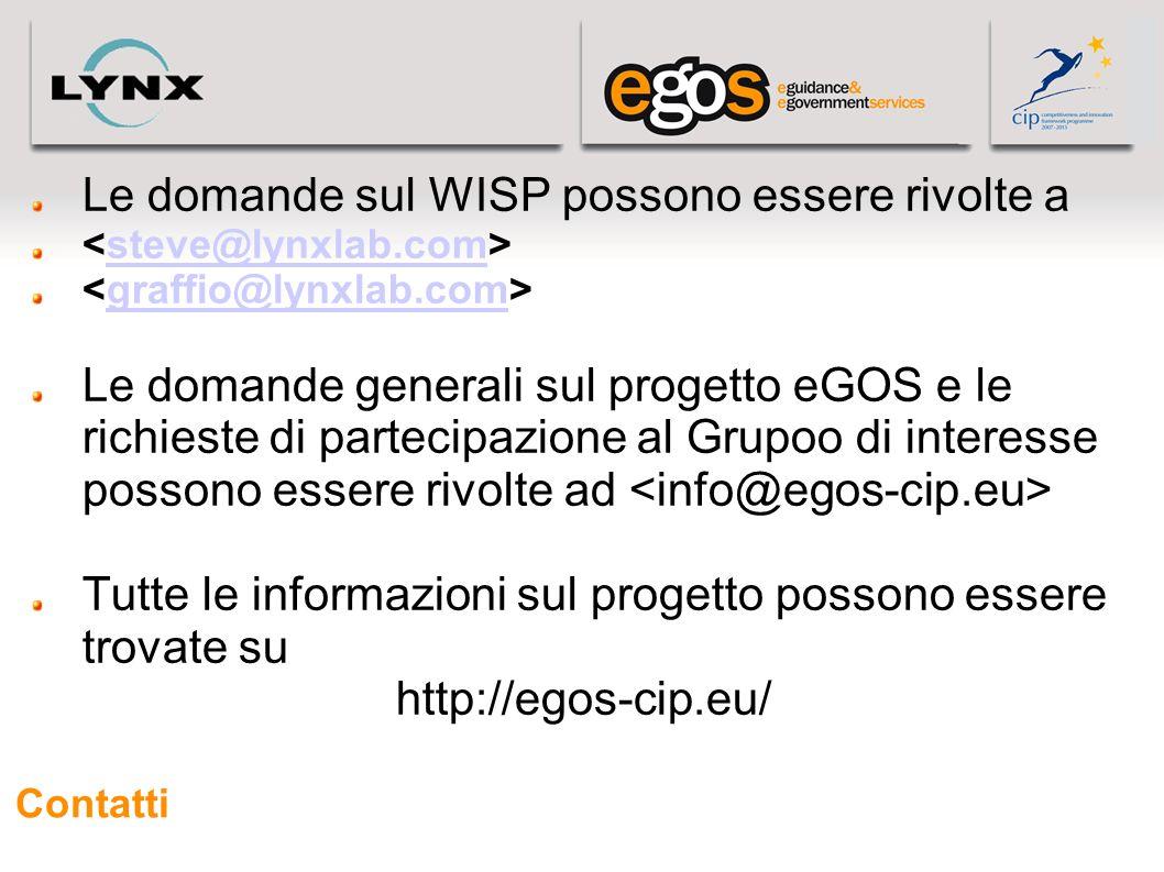 Le domande sul WISP possono essere rivolte a
